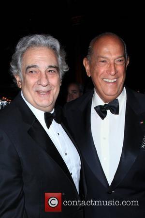 Placido Domingo and Oscar De La Renta