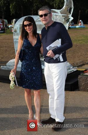 Jack Vettriano and guest Elephant Parade - auction held at the Royal Hospital Chelsea. London, England - 30.06.10