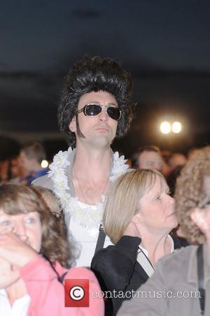Elvis fan Elvis Forever Concert at Hyde Park London, England - 13.09.10
