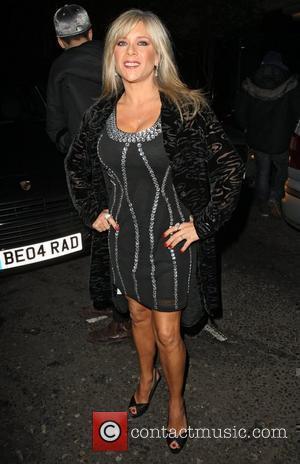 Samantha Fox,  at the Christmas party held at Embassy nightclub. London, England - 06.12.10