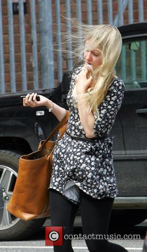 Sammy Winward appears a little wind-swept as she arrives at the ITV Studios Leeds, England - 25.06.10