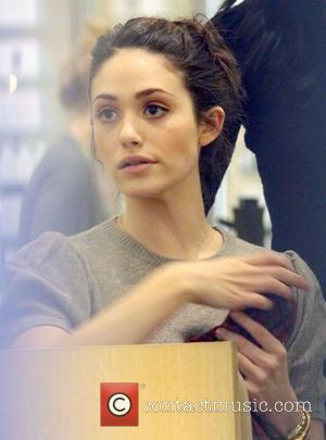 Emmy Rossum Christmas shopping at Barneys New York. Los Angeles, California - 22.12.10