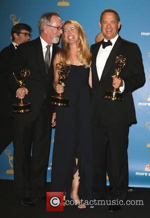 Tom Hanks and Crew of 'The Pacific' 62nd Primetime Emmy Awards (The Emmys) held at the Nokia Theatre - Press...