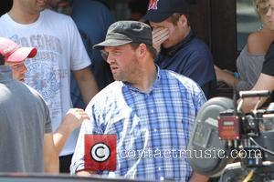 Ethan Suplee on the set of 'Entourage' filming at Goal in West Hollywood Los Angeles, California - 23.06.10