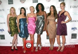 Adrienne Frantz, Ming-Na, Charlotte Ross, Garcelle Beauvais, Leila Arcieri & Ashley Jones arrive at the 4th annual Enzoani Bridal Fashion...