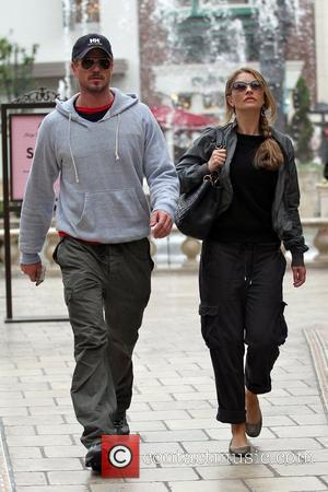 Eric Dane and Rebecca Gayheart depart a movie theatre at The Grove Los Angeles, California - 05.10.10