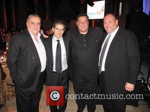 Vincent Curatola, Michael Imperioli, Joe Laurita, Steve Schirripa, James Gandolfini, Tony Sirico and Richard Wilk  at the Exploring the...