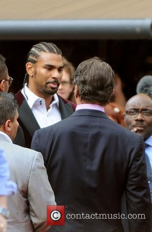 Wba World Heavyweight Champion David Haye Talks To Slyvester Stallone