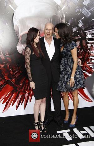 Bruce Willis, Rumer Willis and Emma Heming Los Angeles Premiere of 'The Expendables' held at Grauman's Chinese Theatre  Los...