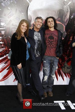 Eric Roberts, wife Eliza and stepson Keaton Simmons  Los Angeles Premiere of 'The Expendables' held at Grauman's Chinese Theatre...