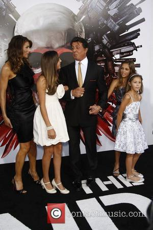 Sylvester Stallone, Jennifer Flavin and Family