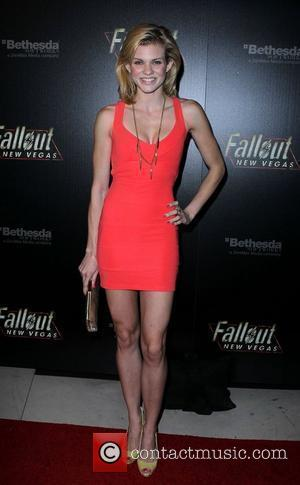 Angel McCord Hollywood Celebrities attend the launch of Fallout New Vegas at Rain Nightclub at The Palms Hotel Casino...