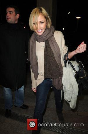Jenny Frost,  returns to a hotel after filming Channel 4's live high-risk reality show, 'Famous and Fearless' at the...
