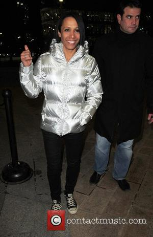 Kelly Holmes,  returns to a hotel after filming Channel 4's live high-risk reality show, 'Famous and Fearless' at the...