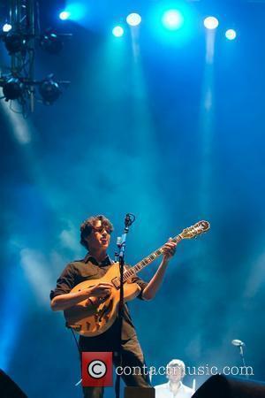 Ezra Koenig of Vampire Weekend,  performing at the 16th Festival SuperBock SuperRock - Day 2 Meco, Portugal - 17.07.10