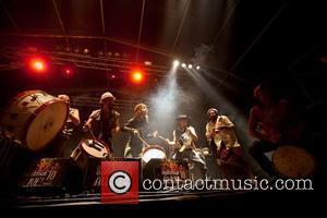 Homens da Luta performing at Optimus Alive! 2010 at Passeio Maritimo de Alges - Day 3