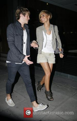 Frankie Sanford and Dougie Poynter leaving the Mayfair hotel together London, England - 03.09.10