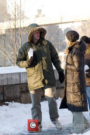 Jennifer Westfeldt on the set of her new movie 'Friends With Kids' New York City, USA - 14.01.11