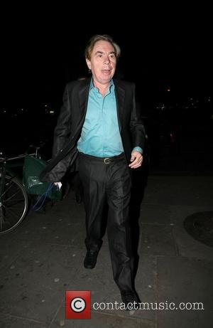 Andrew Lloyd Webber,  leaving Gary Barlow's 40th birthday concert at the O2 Shepherds Bush Empire. London, England - 20.01.11