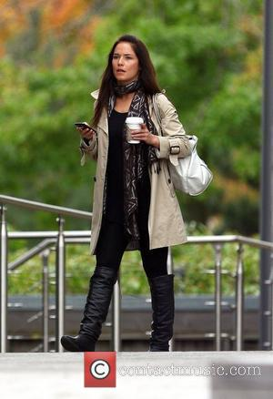 Strictly Come Dancing's Katya Virshilas grabbing a coffee before rehearsals London, England - 27.09.10