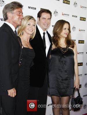 John Easterling, Abbie Cornish, Barry Gibb, John Travolta, Kelly Preston and Olivia Newton-john