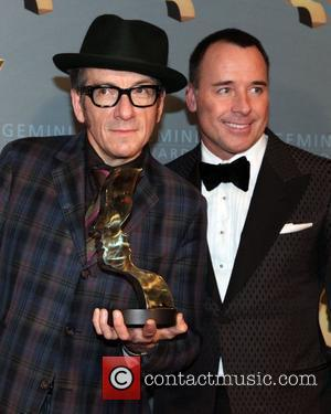 Elvis Costello and David Furnish