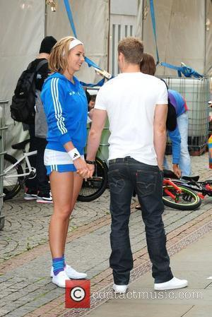 Gemma Atkinson with her boyfriend Gemma Atkinson launches Sky Ride Manchester at Manchester Town Hall Manchester, England - 27.07.10