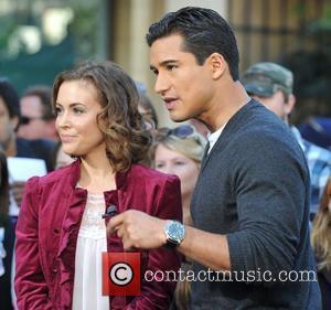 Alyssa Milano and Mario Lopez