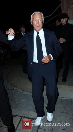 Giorgio Armani leaving The George Club London, England - 08.09.10