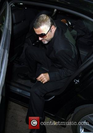 George Michael arriving at Higbury Magistrates Court, charged with possession of cannabis and driving while unfit through drink or drugs...