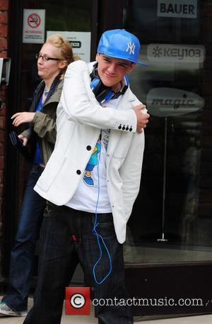 George Sampson  outside Key 103 radio studios Manchester, England - 19.05.10
