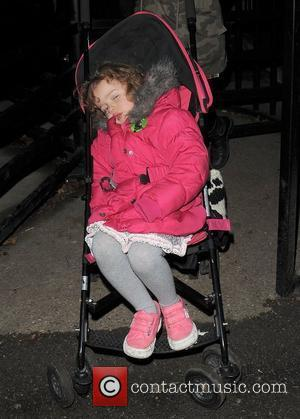 Bluebell Halliwell leaving London Zoo. Her mother Geri had arranged for her nanny pick the pair up when the Zoo...