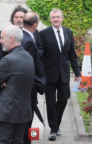 Louis Walsh The funeral of RTE broadcaster Gerry Ryan at the Church of St. John the Baptist, Clontarf,  Dublin,...