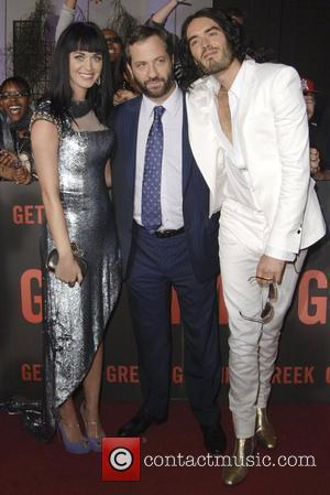 Katy Perry, Judd Apatow and Russell Brand