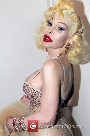 Amanda Lepore 9th Annual Glaad OUT Auction, held at Metropolitan Pavillion - Inside New York City, USA - 21.11.10