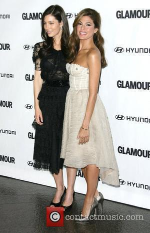 Jessica Biel and Eva Mendes