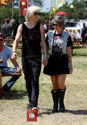 Luke Worrall and Kelly Osbourne