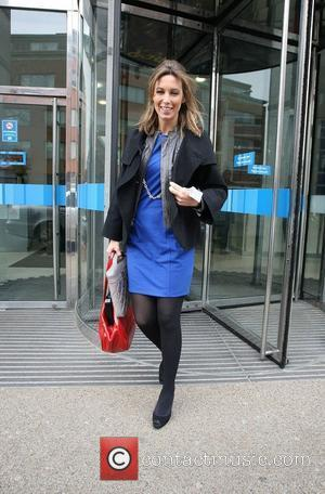 Emma Crosby GMTV presenters leaving the ITV studios London, England - 03.02.10
