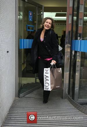 Penny Smith GMTV presenters leaving the ITV studios London, England - 03.02.10