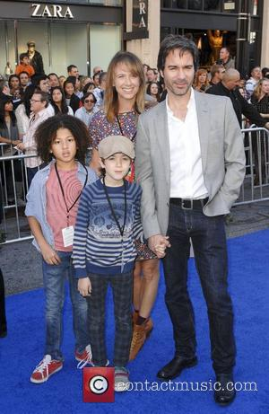 Eric McCormack and family Gnomeo and Juliet World Premiere, held at the El Capitan Theatre - arrivals Hollywood, California -...
