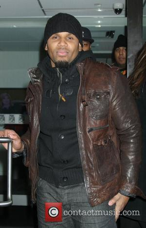 R&B singer Avant  is seen leaving 'Good Day New York' Studios after performing his new single 'Kiss Goodbye'. New...