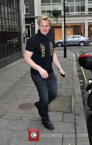 Gordon Ramsay leaving the BBC Radio One studios London, England - 18.01.10