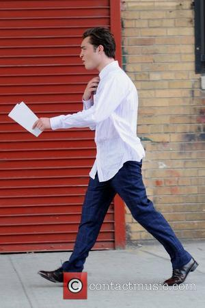 Ed Westwick on the set of 'Gossip Girl' shooting on location in Manhattan New York City, USA - 12.07.10