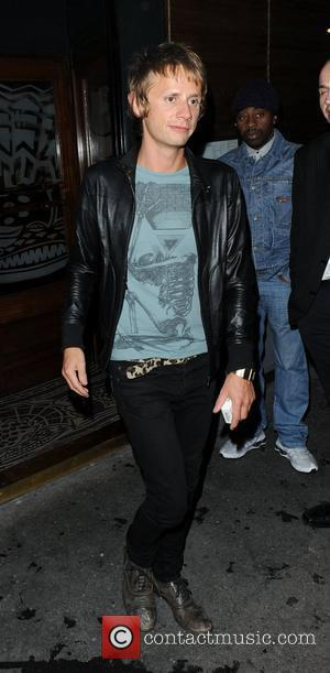 Dom Howard of the rock band Muse, outside the Groucho Club London, England - 31.08.10
