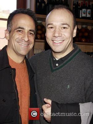 David Pittu and Danny Burstein A.R. Gurney's 80th Birthday celebration hosted by The Flea Theater held at Petrarca restaurant Tribeca,...