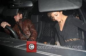 Wayne Bridge and Frankie Sandford of The Saturdays leaves Hakkasan restaurant after dining with her parents. London, England - 18.01.11
