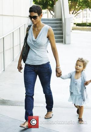 Halle Berry and Her Daughter Nahla Arrive At The Staples Centre To Visit The Circus