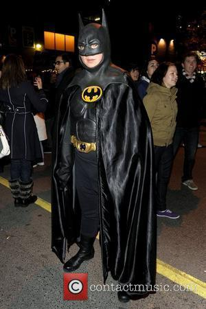 Party goer dressed as Batman   for The Church Street Block Party - Toronto's annual Halloween celebration on Church...