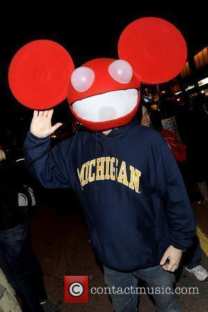 Party goer dressed as DJ Deadmau5   for The Church Street Block Party - Toronto's annual Halloween celebration on...