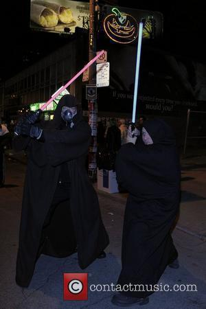 Party goers dressed as Star Wars Emperor Palpatine   for The Church Street Block Party - Toronto's annual Halloween...